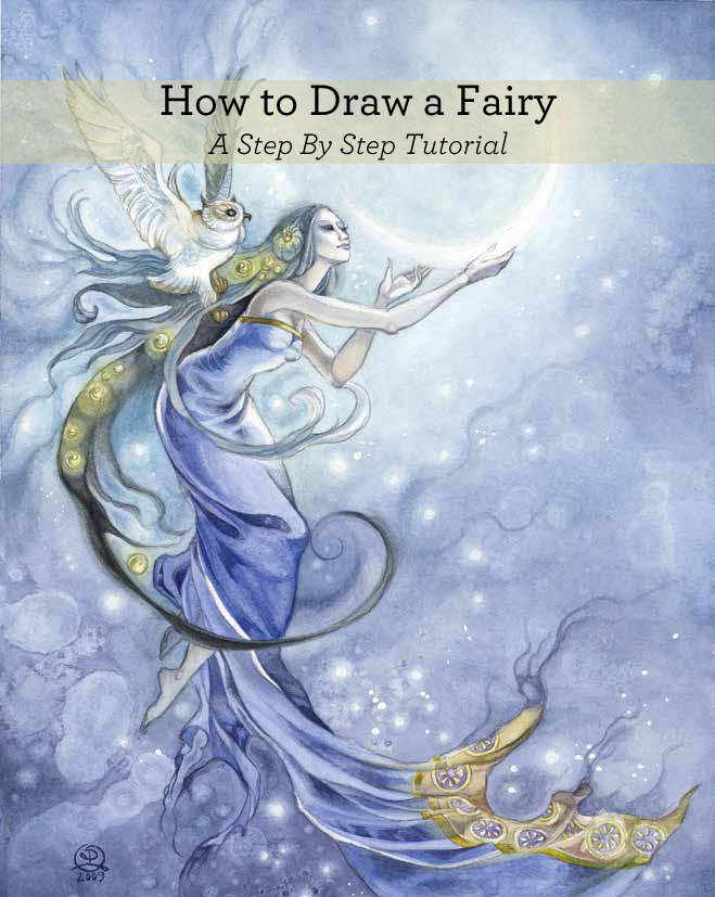 Learn how to draw a fairy step-by-step.