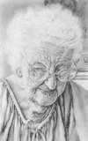 Mrs. F.b. Grubbs, graphite drawing