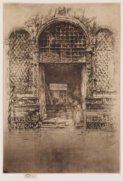The Doorway by James Abbott McNeill Whistler, 1879, etching and drypoint drawing