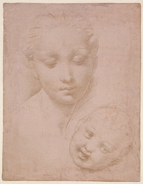 silverpoint drawing raphael
