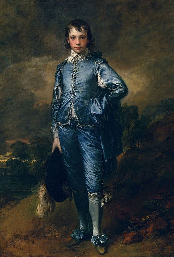 The Blue Boy by Thomas Gainsborough, oil on canvas, 1770: This is the artist's most famous work and served as an homage to the Flemish Baroque artist Anthony Van Dyck, which is why the figure is dressed in a costume that would have been worn some 140 years prior to when the work was done. The Raft of the Medusa by Theodore Gericault, oil on canvas, 1819:
