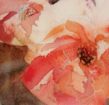 Peony (mixed media) by Sandrine Pelissier | Demo at ArtistsNetwork.com