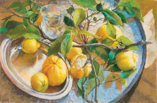 Summer Lemonade (pastel) by Leoni Duff