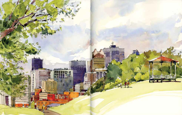 Artwork by Shari Blaukopf, featured in Archisketcher | Urban sketching ideas at ArtistsNetwork.com