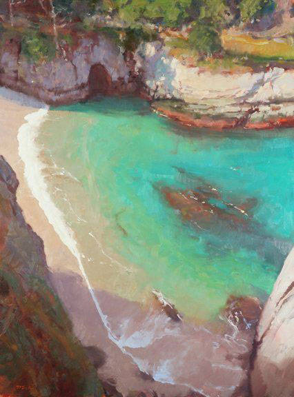 The Cove by Randall Sexton, oil on canvas, 40 x 30, 2010.
