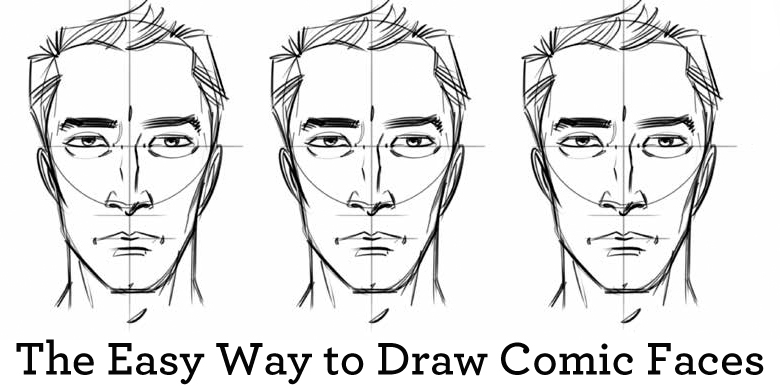 Learn how to draw comic faces with this free tutorial!