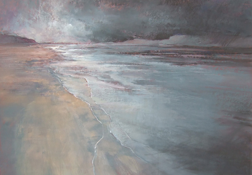 Dusk, Portmerion—N Wales (pastel) by Averil Gilkes | pastel painting, seascape