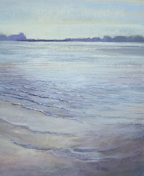 Views From Lympston, Devon (pastel) by Averil Gilkes | pastel painting, seascape