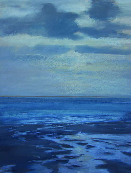 Unknown Title (pastel) by Averil Gilkes | pastel painting, seascape