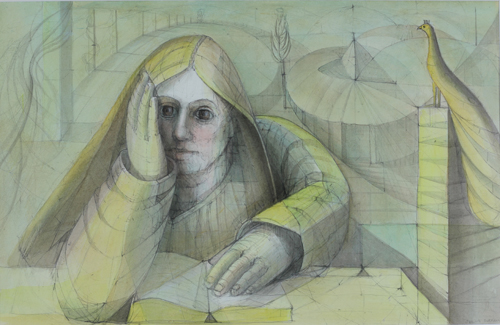 If Only He Knew (watercolor on paper) by Julia Sorrell