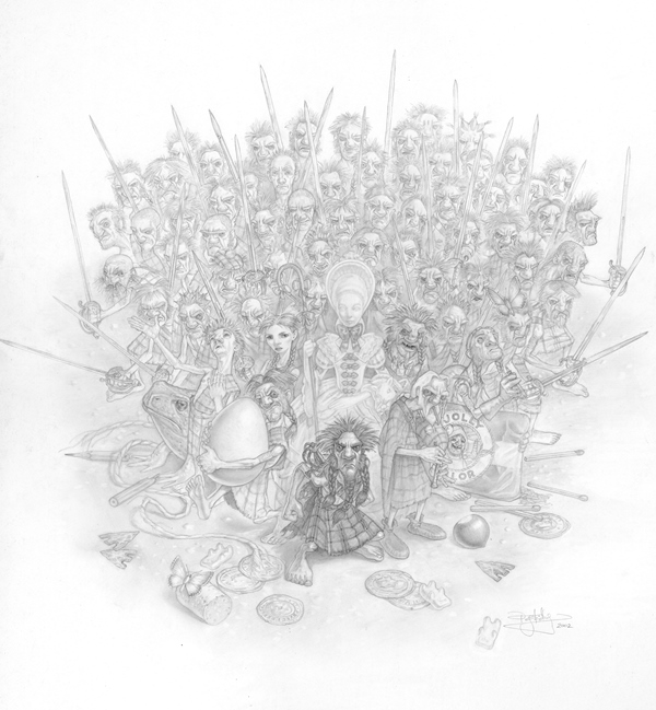 paul kidby fantasy drawing - Wee Free Men