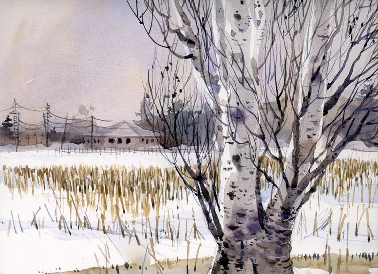 Winter Corn by Shari Blaukopf, watercolor painting