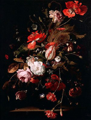 Still Life with Watch by Willem van Aelst, oil on canvas, 1665.