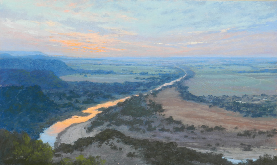 Brazos-Sunrise-at-Village-Bend-pastel-jeri-salter