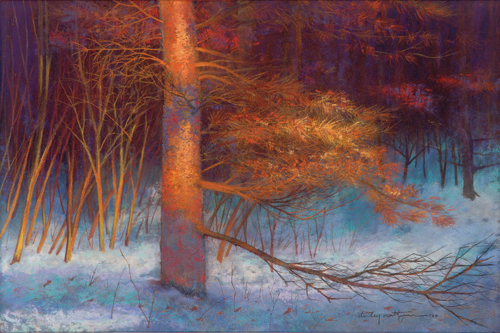 Evening Embers (pastel) by Stanley Maltzman