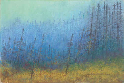 Morning Mist (pastel) by Stanley Maltzman