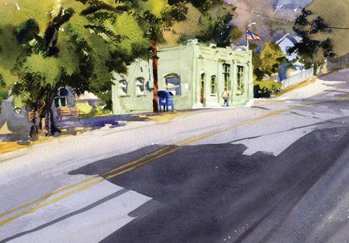 Old Mosier Bank by Mike Kowalski   ArtistsNetwork.com