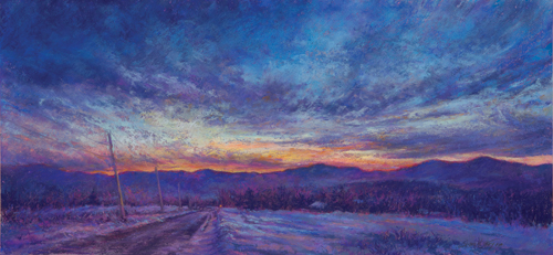 Almost Home (pastel) by Susan M. Story