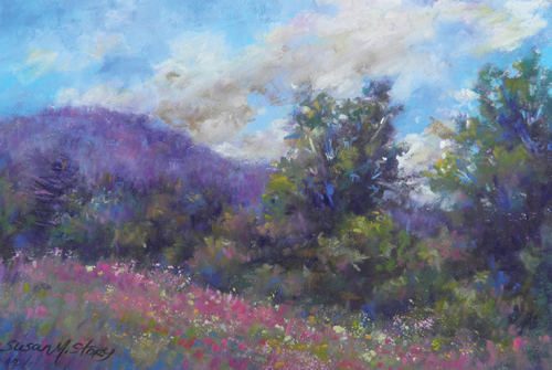Summer Field (pastel) by Susan M. Story