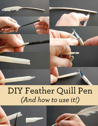 Learn how to use a DIY Feather Quill Pen in this free guide.