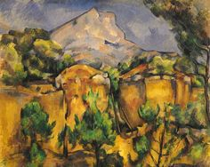 Quarry and Mont Sainte-Victoire by Paul Cézanne, 1898–1900, oil, 25 1/2 x 32. Collection Baltimore Museum of Art, Baltimore, Maryland.