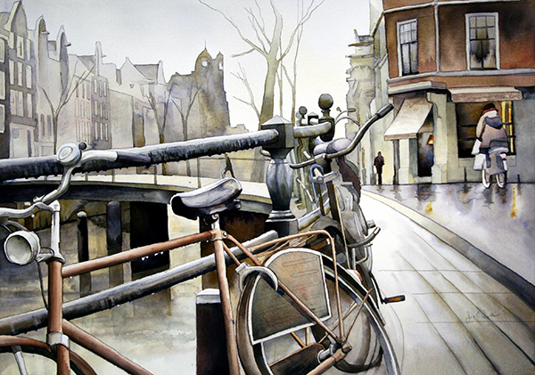 Bicycle Society - Amsterdam by Jim Smither_September Artist of the Month