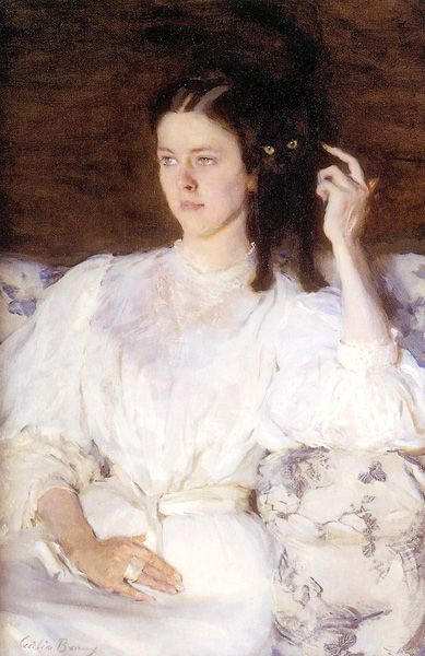 Sita and Sarita by Cecilia Beaux, 1893, oil painting, 37 x 25