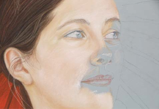 Step by step demonstration how to draw a portrait artists network portrait drawing demo by david wells artistsnetwork ccuart Images