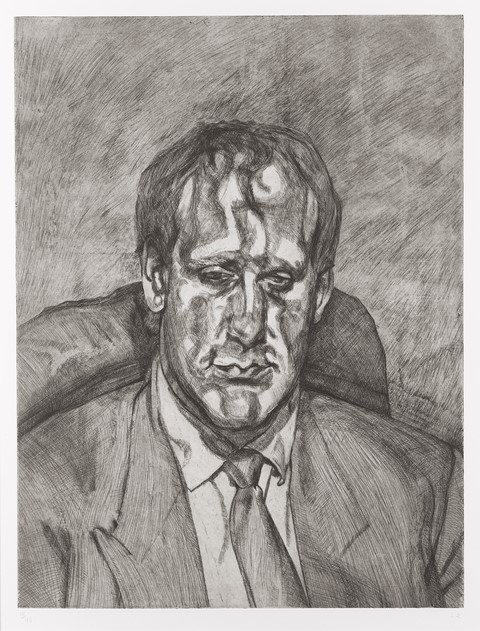 Head of an Irishman Lucian Freud (English, 1922–2011) 1999 Etching * Anonymous gift © Lucian Freud * Photograph © Museum of Fine Arts, Boston