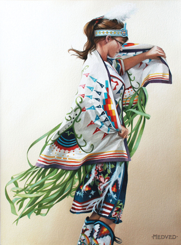 Spirit of the Buffalo (watercolor on paper, 30x22) by Jenny Medved | up-and-coming artists
