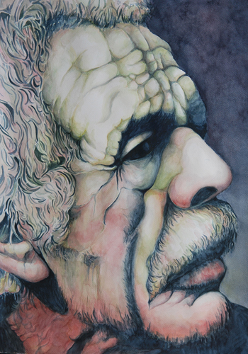 Uncle Bogoya (watercolor on paper, 30x22) by Dorothy Lee | up-and-coming artists