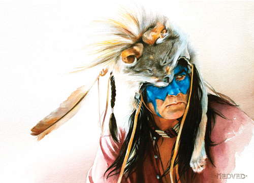 Koda (watercolor on paper, 18x24) by Jenny Medved | up-and-coming artists