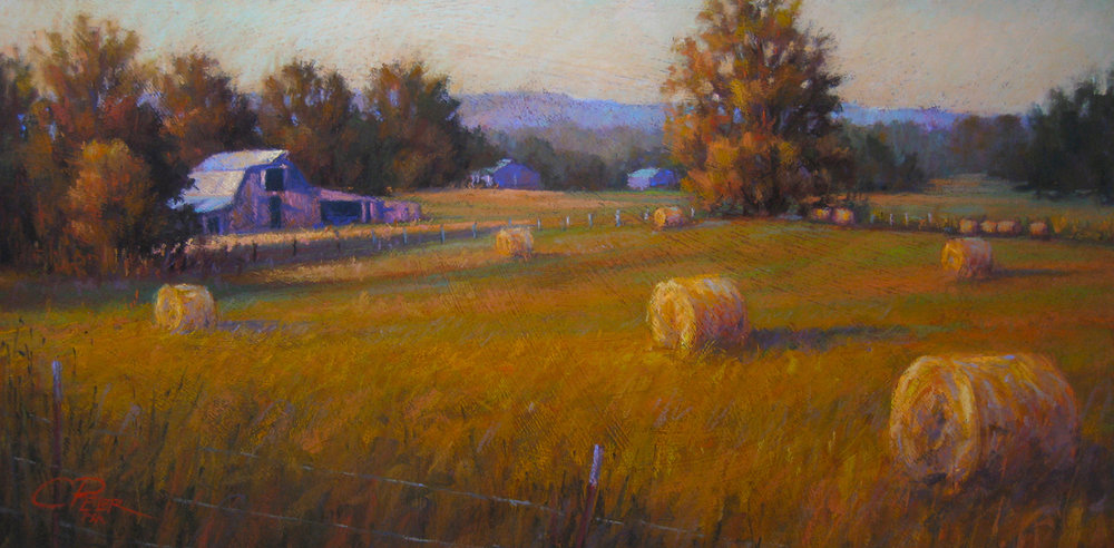Day's Bounty (pastel) by Charles Peer