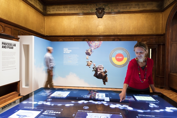 "Installation view of ""Pixar: The Design of Story."" Photo by Matt Flynn"