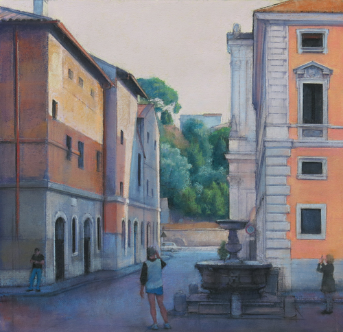 Rome Fountain_Pastel_Linda Carey | ArtistsNetwork.com