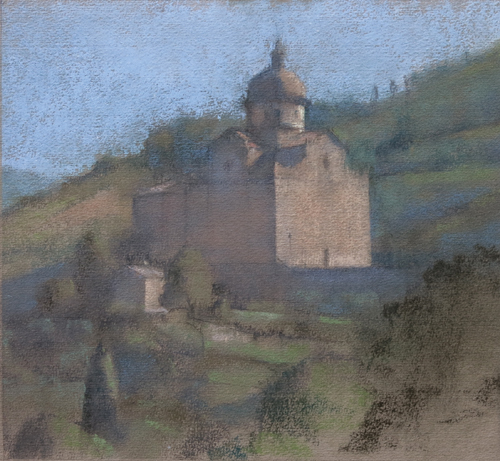 Santa Maria Nuova_Pastel_Linda Carey | ArtistsNetwork.com