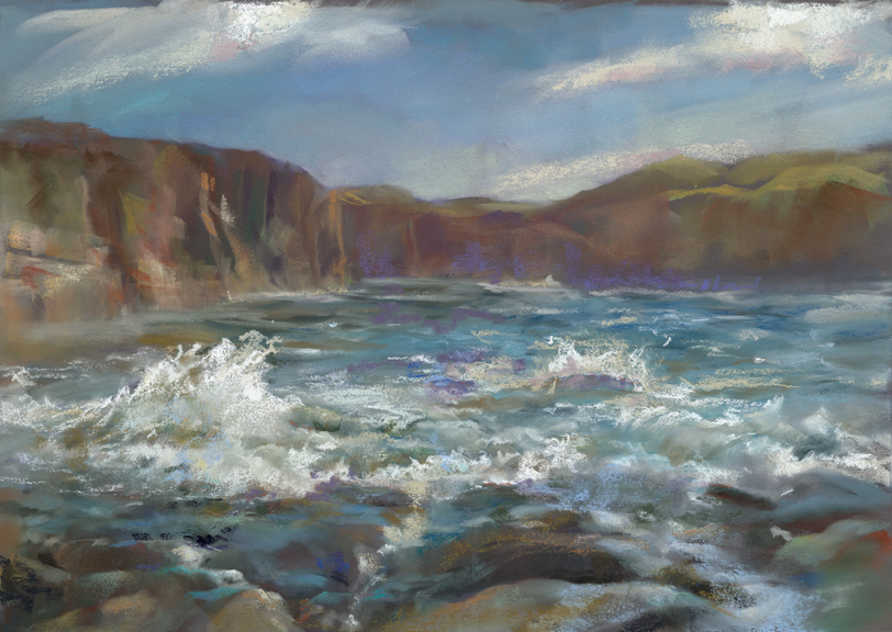 Spanish Point (pastel) by Kathryn Gentile