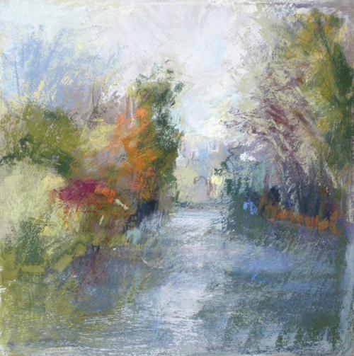 Kew Gardens (pastel on board, 14x14) by Joanne Last | pastel landscapes