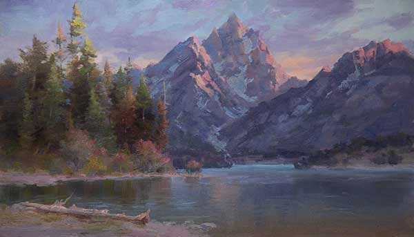 Oil landscape painting demonstration by Johannes Vloothuis | ArtistsNetwork.com