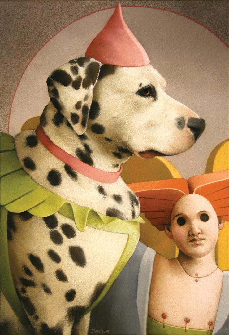 janelewis_Dog&AngelPuppet-pastel