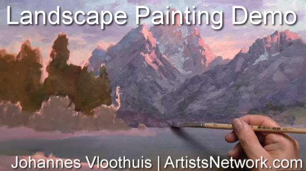 Landscape painting art workshops online | Johannes Vloothuis, ArtistsNetwork.com