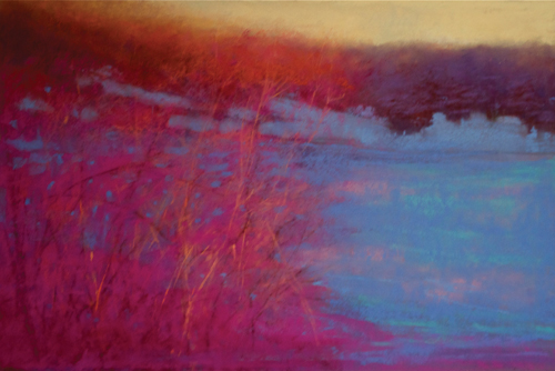pastel-landscape-Anna-Wainright-Dusk-After-the-Snow | Artistsnetwork.com