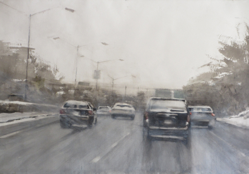 Watercolor Painting_Susan Weintraub_Winter Driving | Artistsnetwork.com