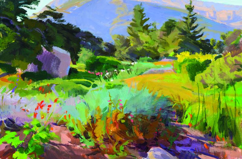 Summer Afternoon Acrylic Artist Marcia Burtt