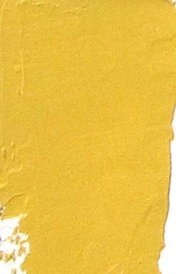 Pigments: swatch of Naples yellow hue (Gamblin)