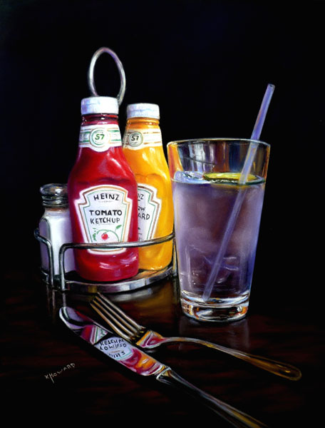 "Art critique of ""At the Diner"" by Karen Howard 