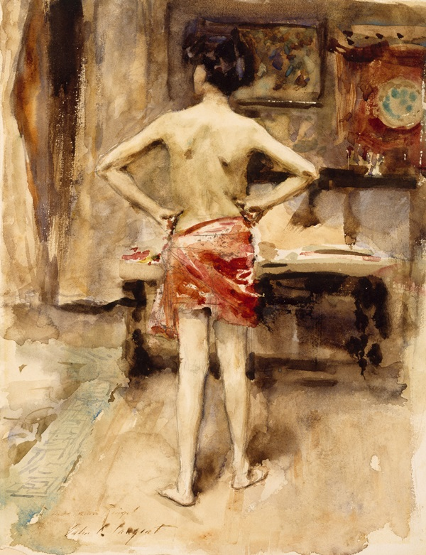 Drawings - John Singer Sargent - The Model
