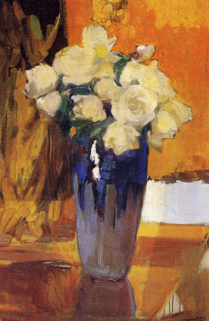 White Roses from the House Garden by Joaquin Sorolla, 1919.