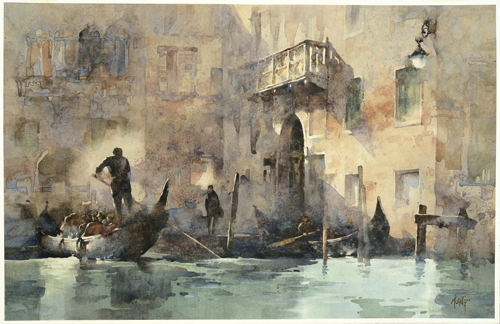 Enchanted With Venice (watercolor on paper, 21¼x28⅓) by Hsiao-Hui Huang | watercolor art competition