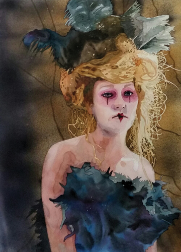 Sabrina (watercolor on paper) by Laurie Goldstein-Warren | watercolor painting